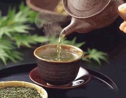té verde a base de hojas de olivo